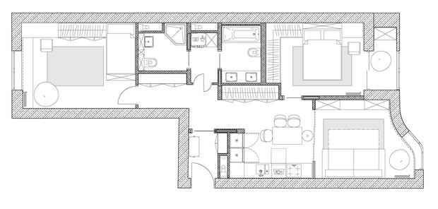 Фото №10 - Уютная светлая квартира 76 м² для молодой семьи с ребенком