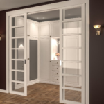 Оформление раздвижных дверей